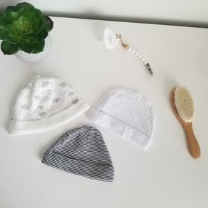 Carter's, Laura Ashley Bundle of Gray Baby Hats